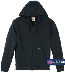 Navy Blue Dickies Midweight FLEECE Zip Hoodie