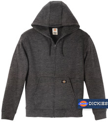 Charcoal Dickies Midweight FLEECE Zip Hoodie
