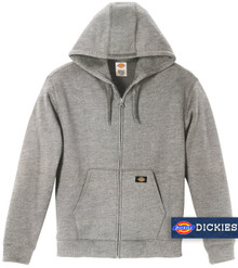 Gray Dickies Midweight FLEECE Zip Hoodie