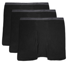 All black Hanes BOXER BRIEFS 3-Pack Underwear