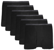 Black Hanes BOXER BRIEFS 6-Pack Underwear