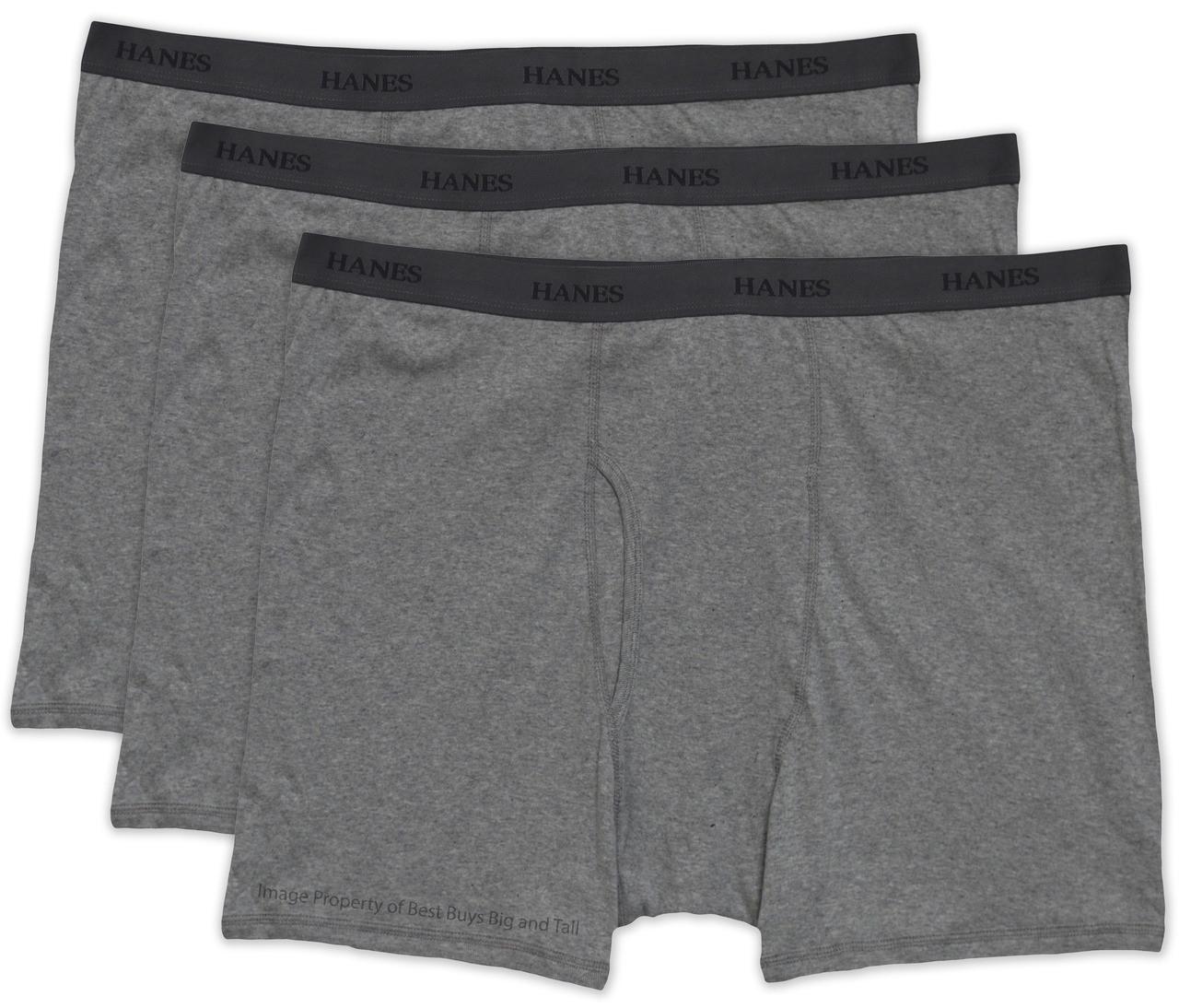 c76462d6e9d8 SHOP NOW! Big & Tall Men's Gray Underwear Boxer Briefs 3-Pack by Hanes
