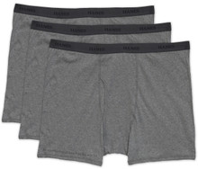 Gray Hanes BOXER BRIEFS 3-Pack Underwear