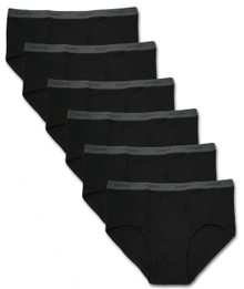 All black underwear 6-pack briefs