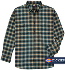 Blue gray plaid shirt by Dickies big and tall
