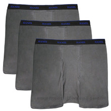 All Gray Cotton Blend Boxer Briefs