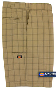 Khaki Dickies Casual Plaid Shorts
