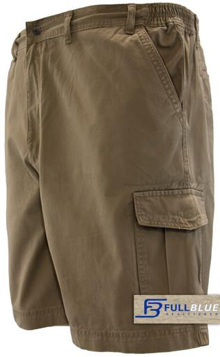 Khaki Brown cargo shorts by Full blue