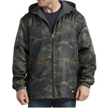 Camo print nylon zip jacket by Dickies
