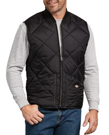 Black Dickies quilted nylon vest