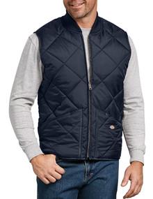 Dickies navy full-zip quilted nylon vest