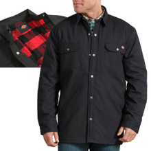 Black heavy shirt jacket with fleece lining by Dickies