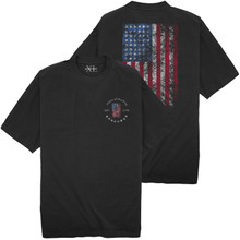 NewportXL Printed T-Shirt LARGE AMERICAN FLAG Black