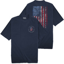 NewportXL Printed T-Shirt LARGE AMERICAN FLAG Navy