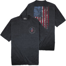 NewportXL Printed T-Shirt LARGE AMERICAN FLAG Charcoal