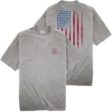 NewportXL Printed T-Shirt LARGE AMERICAN FLAG Gray