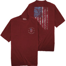 NewportXL Printed T-Shirt LARGE AMERICAN FLAG Burgundy