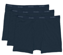 Hanes BOXER BRIEFS 3-Pack Underwear DARK NAVY