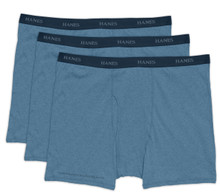 Hanes BOXER BRIEFS 3-Pack Underwear BLUE 4XL #962A