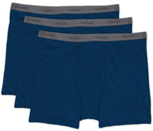 Hanes BOXER BRIEFS 3-Pack Underwear DARK BLUE