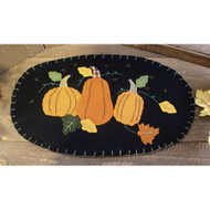 Pumpkin Patch Oval Mat