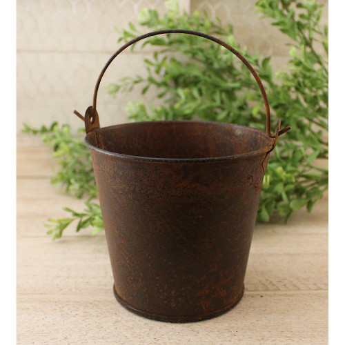 Mini Rusty Tin Bucket
