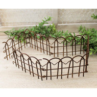 Rusty Tin Wire Folding Fence