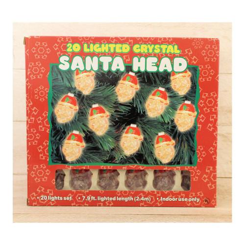 Santa Claus Head String Lights