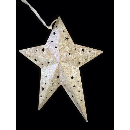 Glitter Folk Star Ornaments