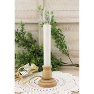Candle Lamp with Unfinished Wooden Base