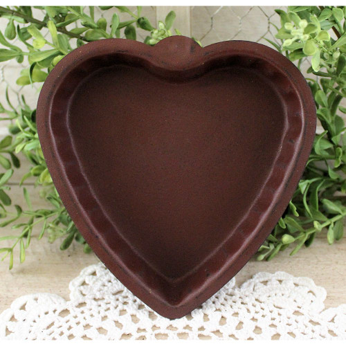 Heart Shaped Burgundy Candle Pan