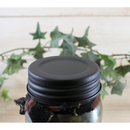 Black Threaded Mason Jar Candle Lid
