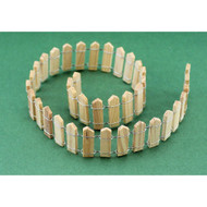 Miniature 1-Inch Unfinished Wooden Picket Fence