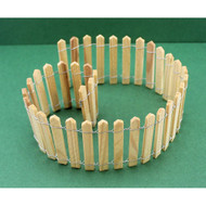 Miniature 2-Inch Unfinished Wooden Picket Fence