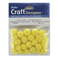 1/4-Inch Yellow Pom Poms