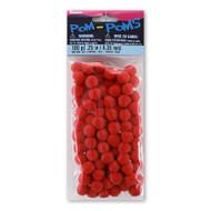 Red 1/4 Inch Pom Poms