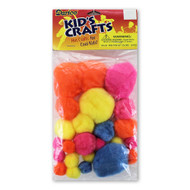 Bold Colors Pom Poms Assorted Sizes