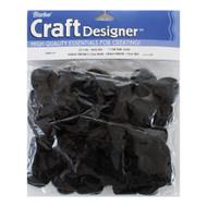 1-Inch Black Acrylic Pom Poms Craft Supplies