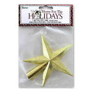 Gold Glitter Tree Topper Star