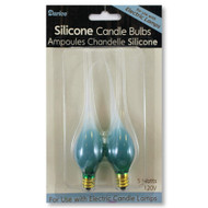 Silicone Tipped Green Candle Lamp Bulbs