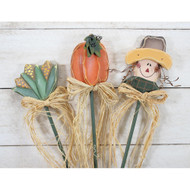 Harvest Picks Pumpkin Corn Scarecrow