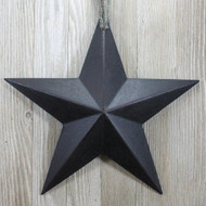 Black Resin Barn Star