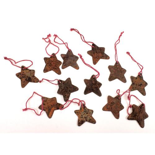 Rusty Tin Star Ornaments