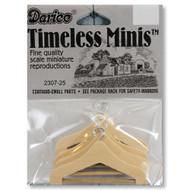 Dollhouse Miniature Wooden Coat Suit Hangers