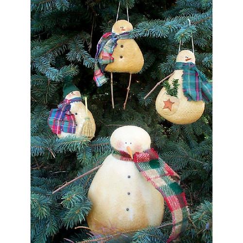 Country Primitive Snowman Ornaments PDF E-Pattern