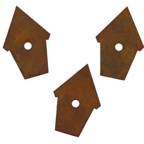 Rusty Tin Peaked Birdhouse Shapes