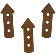 Rusty Tin 3-Story Birdhouse Shapes