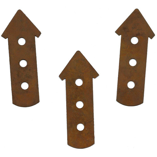 Rusty Tin 3-Story Birdhouse Shapes