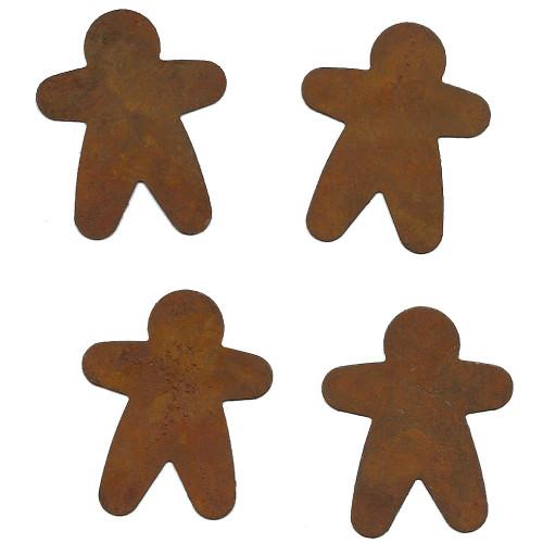 Rusty Tin Small Gingerbread Man Shape