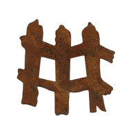 Rusty Tin Fence Shapes